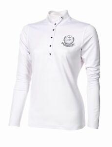 Pikeur langärmeliges Turniershirt mit glitzer Pikeurschriftzug am Kragen