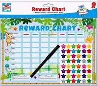 6x Children's Jungle Behaviour Reward Chart Star Stickers Kids Preschool Nursery