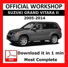 >> OFFICIAL WORKSHOP Manual Service Repair Suzuki Grand Vitara 2005 - 2014