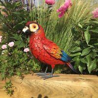 Metal Parrot Macaw Bird Garden Sculpture Handmade Ornament