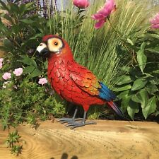 Metal Parrot Macaw Bird Garden Sculpture Handmade Ornament