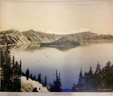 RARE: Original Arthur M. Prentiss Signed Photograph 'Crater Lake Oregon', c 1915