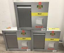 3er Set Briefkasten Briefkastenanlage Burg Wächter Mail 5877 Silber