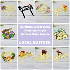 Happy Birthday Cartoon Cake Topper Acrylic Party Decorations AU STOCK