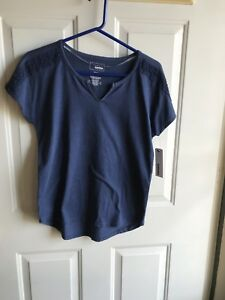 NWT SONOMA Women's Missy short sleeve shirts blue size XS tag for $20
