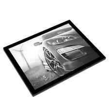 A3 Glass Frame BW - Awesome Black Sports Car Mechanic  #41282