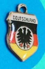 Charm W81 Deutschland Shield Sterling Silver Vintage Bracelet