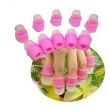 10 X Wearable Nail Acrylic Soaker Kits Polish Remover Gel Removal Cap DIY Tips J