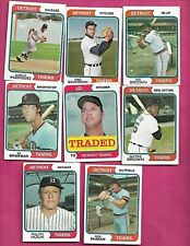 1974 TOPPS DETROIT TIGERS  CARD LOT  (INV# C2059)