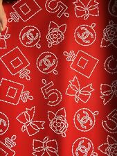 Chanel Wrapping Paper Red Emblematic Gift Wrap & Other Options 36 X 18 Cc