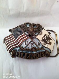 Genuine American Illinois Belt Buckle.