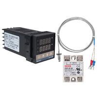 Digital PID Temperature Control+40A SSR+K Thermocouple Measurement REX-C100