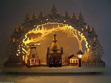 LED Lichterbogen Schwibbogen 3D Dresdener Frauenkirche Kurrende Pyramide 10009