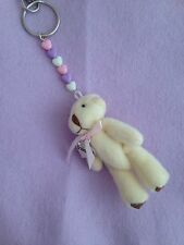 Wedding BRIDESMAID Charm Teddy Keyring Keepsake Favour Gift Lots COLOURS Heart