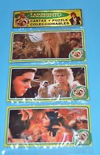 LABYRINTH MOVIE David Bowie SET 3 METAL CARDS PUZZLE COLLECTIBLE ARGENTINA 2