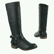 Damen Stiefel  leicht gefüttert Schnalle schwarz Gr.38 NEU!!!