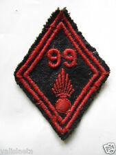 LOSANGE DE BRAS Mle 1945 INFANTERIE : 99ème RI