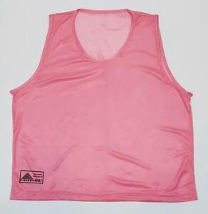 SET OF NEW 12 NEW NEON PINK SCRIMMAGE VESTS SOCCER  FOOTBALL YOUTH, ADULT SIZE