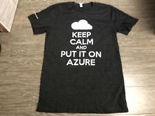 MICROSOFT AZURE Keep Calm T Shirt Small Used See Description