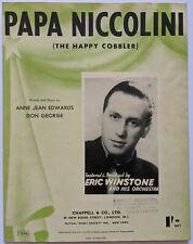 Papa Niccolini (The Happy Cobbler) - Edwards & George - Vintage Sheet Music