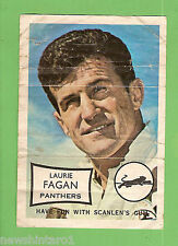 1970 SCANLENS RUGBY LEAGUE MINI POSTER - LAURIE  FAGAN, PENRITH PANTHERS