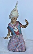 Lladro Porcelain Thai Dancer 1977 Siamese Large Collector Design Rare