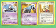 Pokemon LOT Metang 43/101 AND Beldum 54/101 AND Steven's Advice 92/101 from 2004
