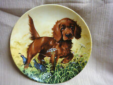 """""""Missing The Point"""" Irish Setter Pup Knowles Collector Plate by Lynn Kaatz 1988"""