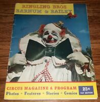 Ringling Bros and Barnum & Bailey Circus Magazine Program 1947 Edition CIGARETTE
