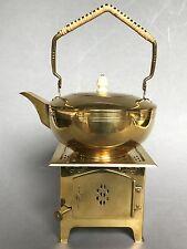 Jugendstil Teekanne Teekessel Stövchen Entwurf Jan Eisenloeffel Niederlande~1903