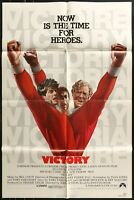 VICTORY Sylvester Stallone Authentic 1981 ORIGINAL 1-SHEET MOVIE POSTER  27 x 41