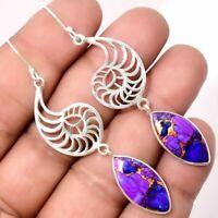 Vintage 925 Silver Gemstone Ear Stud HooK Dangle Wedding Bridal Earrings Jewelry