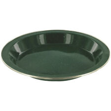Highlander Esmalte Lujo Placa Caza Cocina Acero Inoxidable Cena Plato Verde