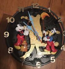 Disney Animated Talking Pendulum Wall Clock Mickey Mouse Donald Duck Rare
