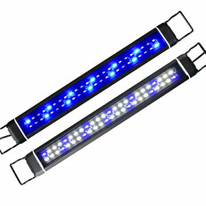 Aquarium LED Light Top Lamp Fish Tank Plant Lighting Blue+White w/ Controller