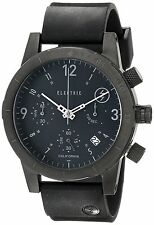 Electric Men's FW02 Chronograph Quartz Black Watch Round Dial Rubber Strap Date