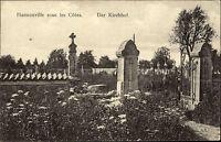 Hannonville sus les Côtes ~1910 Kirchhof cimetière de l'église Friedhof Cemetery