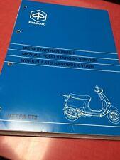 Officina Manuale VESPA et2 iniezione 50ccm 1998 Manuel D /'Atelier