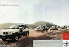 Publicité advertising 2002 (2 pages) Nissan gamme 4X4