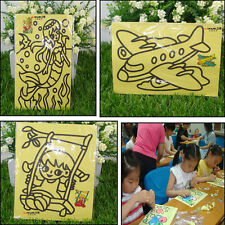 2X Sheets Sand Painting Pictures Kid Children DIY Education Intelligence Toy HU1