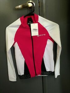 Skins Cycle Womens Long Sleeve Jersey Hot Pink - Small - RRP $150