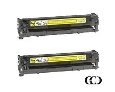 2X Quality YELLOW Toners for HP 125A, CB542A, Canon 116, 1977B001AA, CP1210