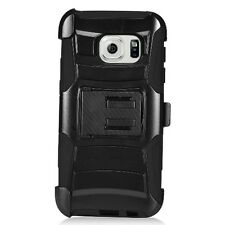 Heavy Duty Hybrid Hard Case Cover+ Belt Clip Holster For Samsung Galaxy S7 G930
