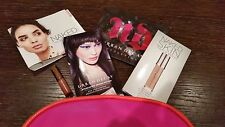 URBAN DECAY STASH BAG 4 Samples Potion Lipstick Lipgloss Naked Skin + FREE Pouch