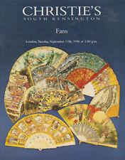CHRISTIE'S SK FANS Auction Catalog 1996