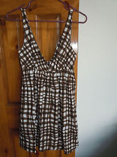 Old Navy womens sleeveless sundress size S brown & white