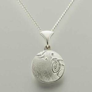 "Scottish Ola Gorie Silver Celtic Secrets Knot Locket 18"" Chain Pendant"