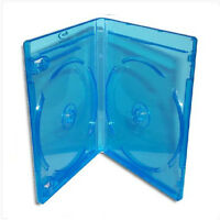 NEW! Double BLU-RAY Case *3-Pack* Official Logo-Molded Design (11mm) Blue