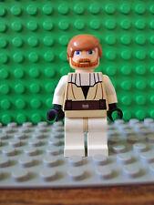 Lego Star Wars Minifig ~ Obi-Wan Kenobi ~ From Set #7676 Flesh Color Clone Wars