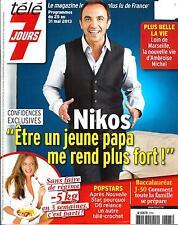 TELE 7 JOURS N°2765 25 MAI 2013  NIKOS ALIAGAS/ POPSTARS/ CASANOVA/ BOON